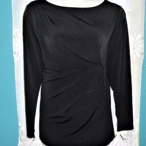 LANE BRYANT LONG SLEEVE PLEATED DRAPED TOP Shirt